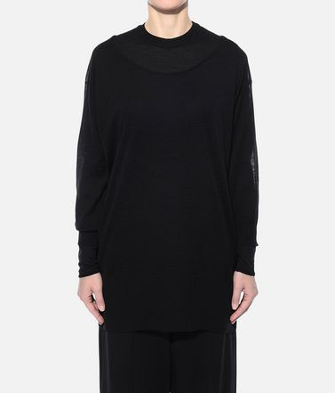 Y-3 長袖ニット レディース Y-3 Layered Knitted Long Sweater r