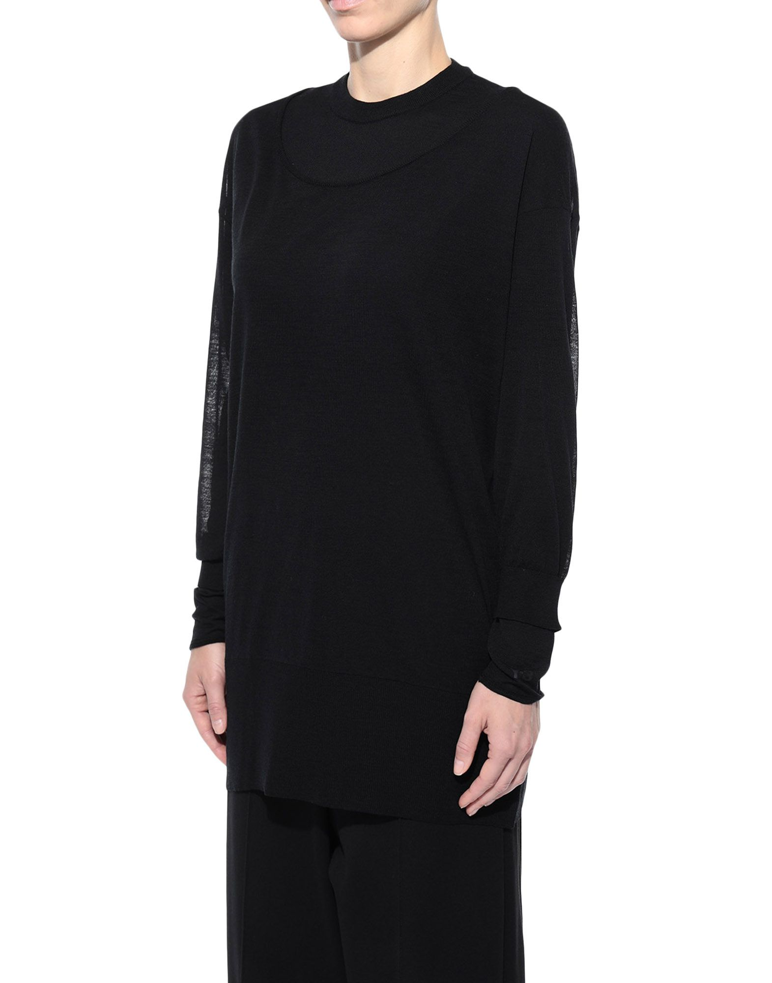 Y-3 Y-3 Layered Knitted Long Sweater Long sleeve sweater Woman e