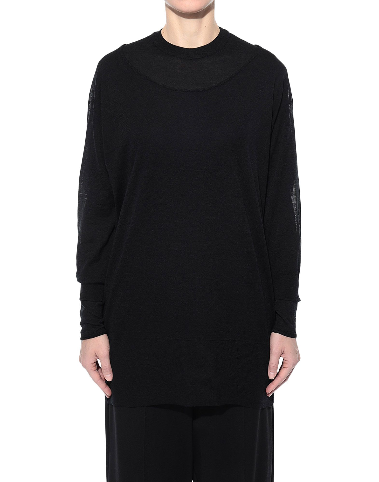 Y-3 Y-3 Layered Knitted Long Sweater Long sleeve sweater Woman r