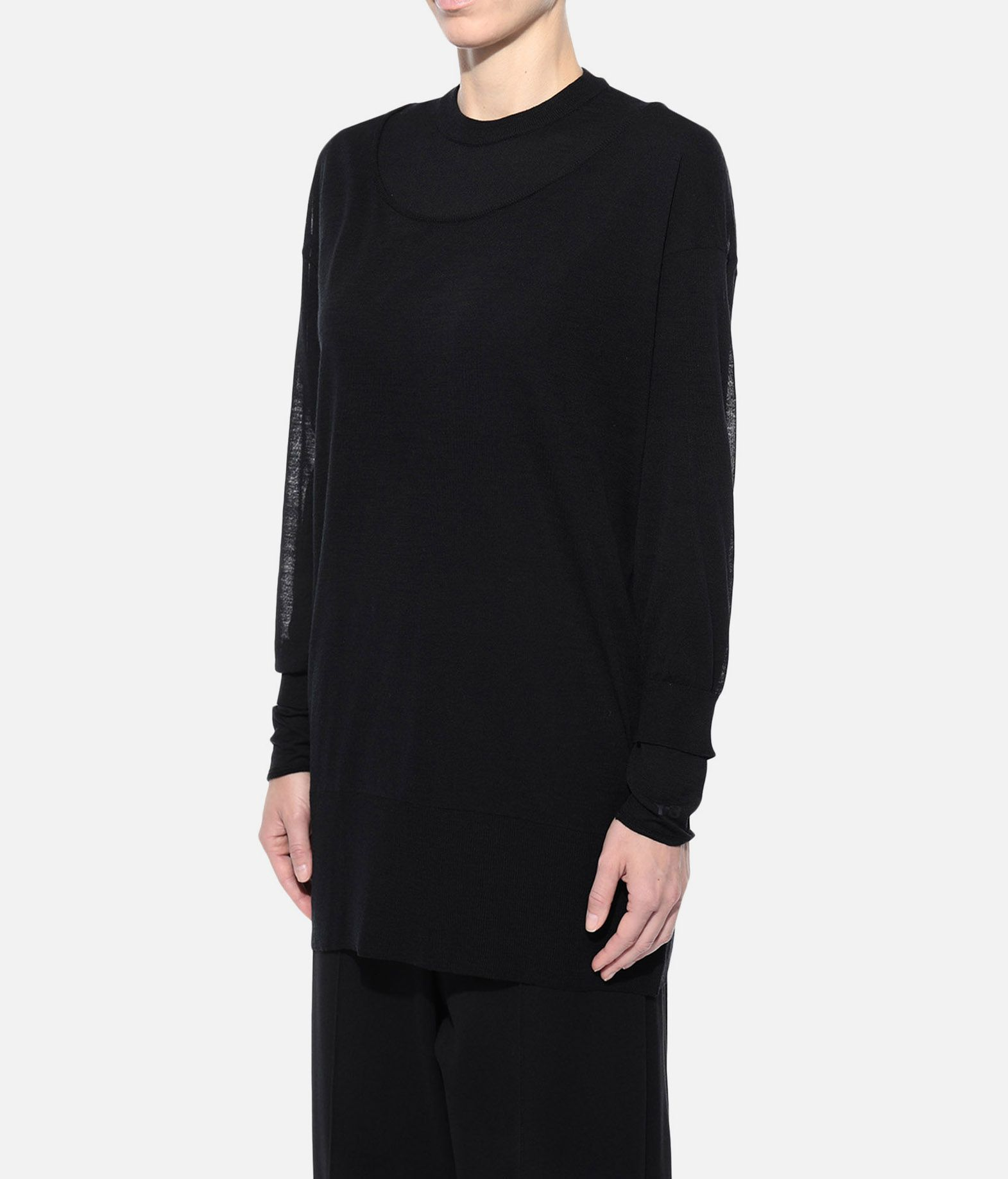 Y-3 Y-3 Layered Knitted Long Sweater Long sleeve jumper Woman e