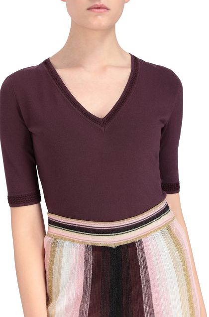 M MISSONI Jumper Deep purple Woman - Front