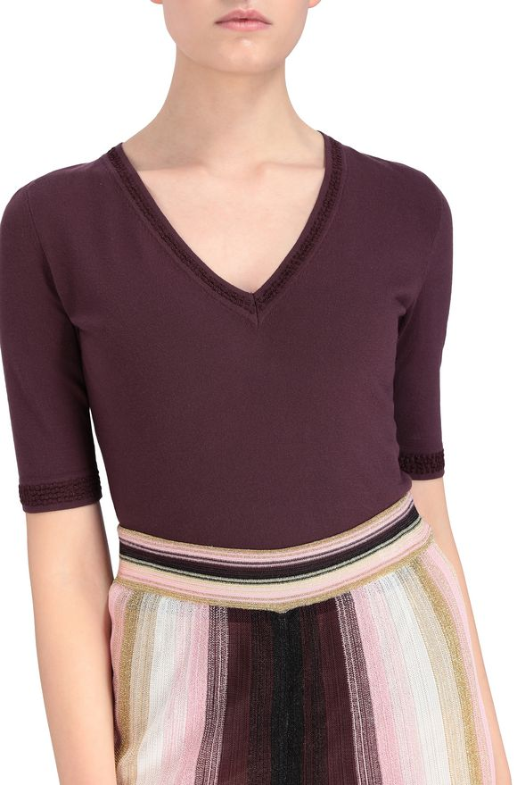 M MISSONI Sweater Deep purple Woman
