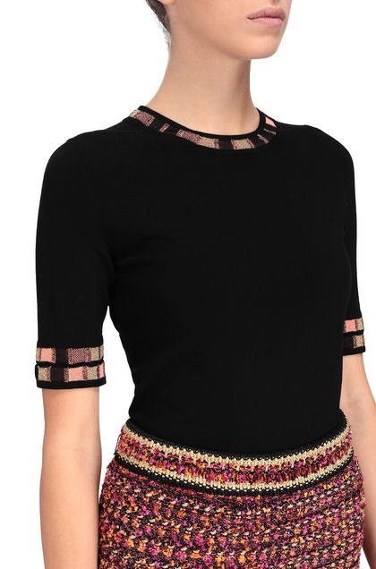 M MISSONI Jumper Black Woman - Front