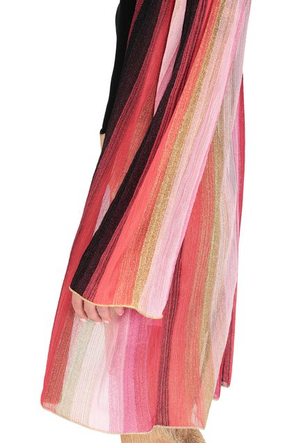 M MISSONI Long cardigan Coral Woman - Front
