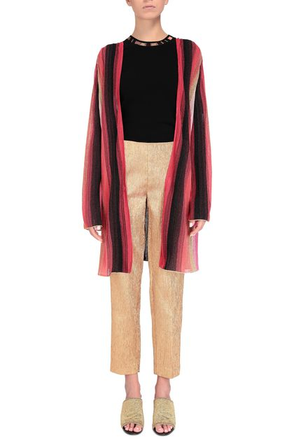 M MISSONI Long cardigan Coral Woman - Back