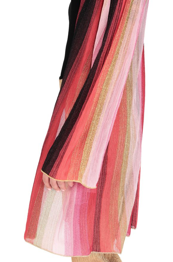 M MISSONI Long cardigan Coral Woman