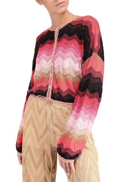 M MISSONI Cardigan Coral Woman - Front