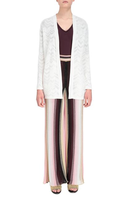 M MISSONI Cardigan Bianco Donna - Retro