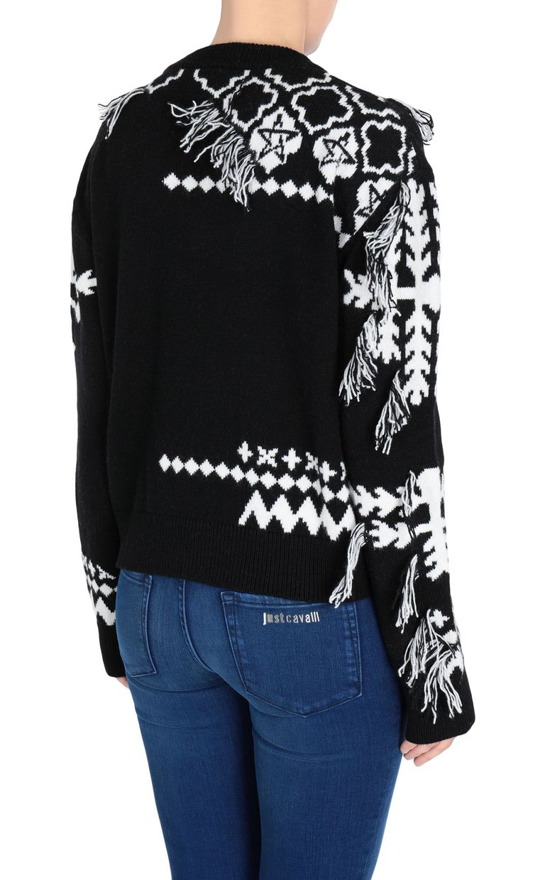 JUST CAVALLI Carpet fringe pullover Long sleeve sweater Woman d