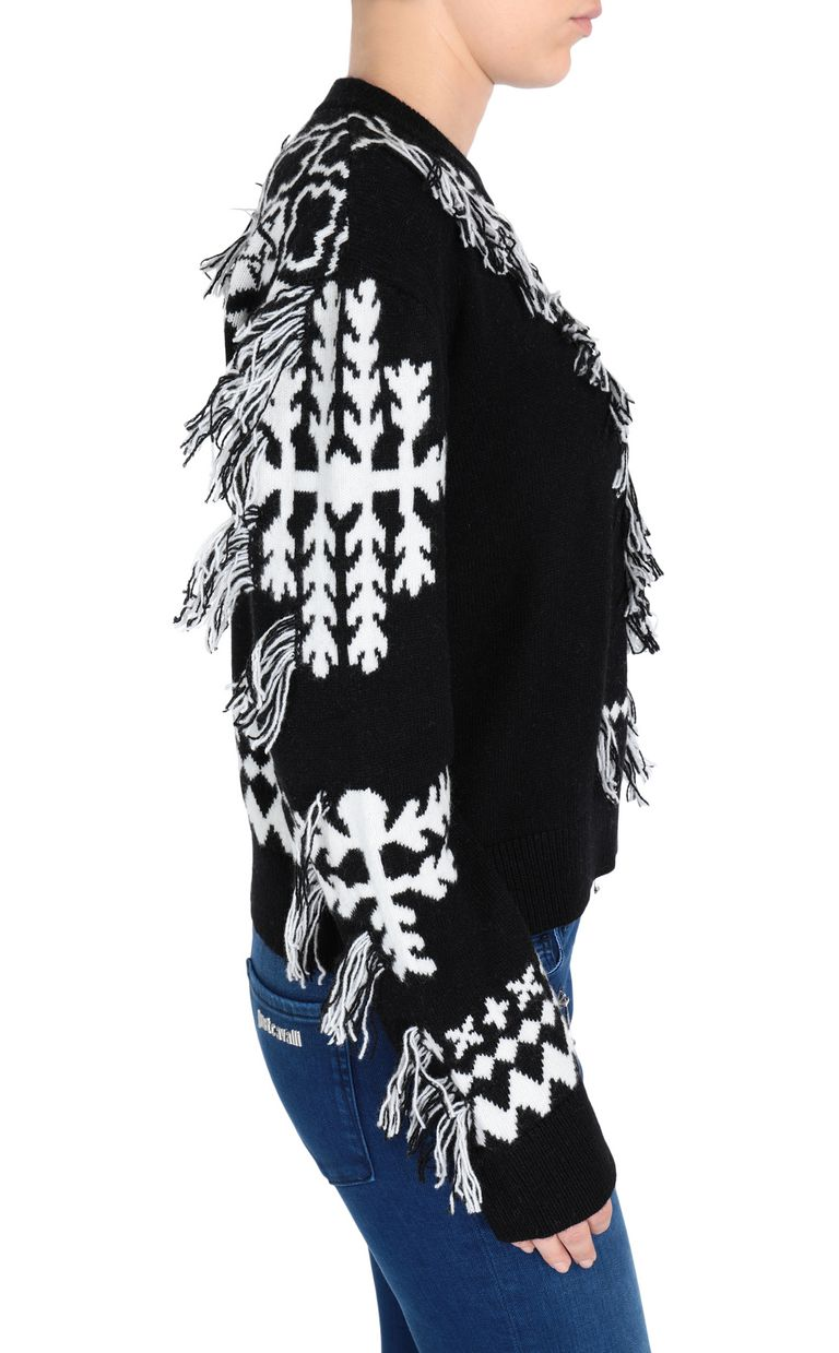 JUST CAVALLI Carpet fringe pullover Long sleeve sweater Woman e