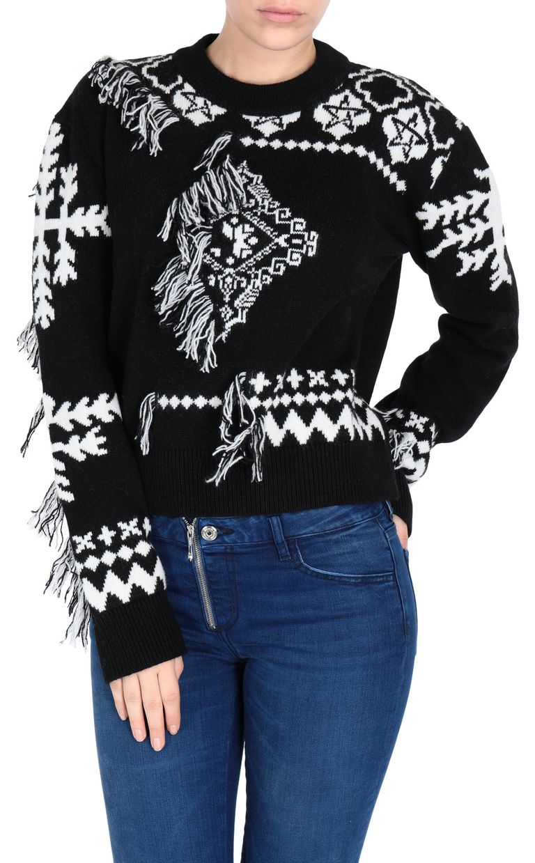 JUST CAVALLI Carpet fringe pullover Long sleeve sweater Woman f