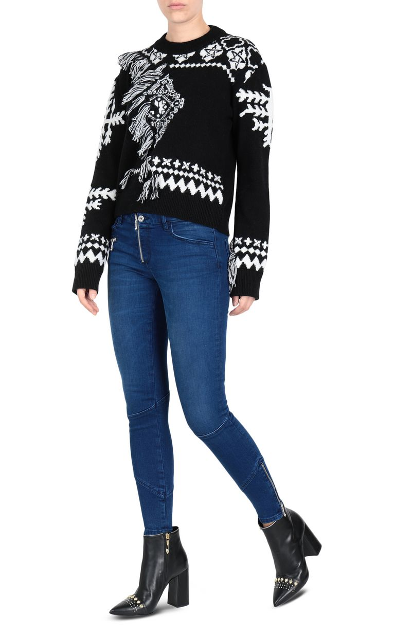 JUST CAVALLI Carpet fringe pullover Long sleeve sweater Woman r