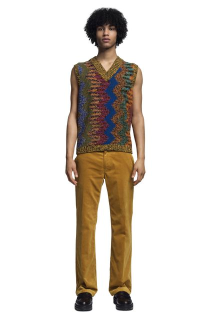 MISSONI Vest Yellow Man - Back