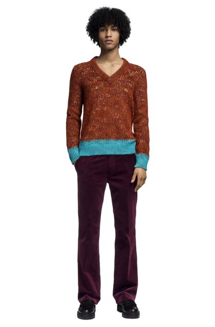 MISSONI V-Neck Rust Man - Back