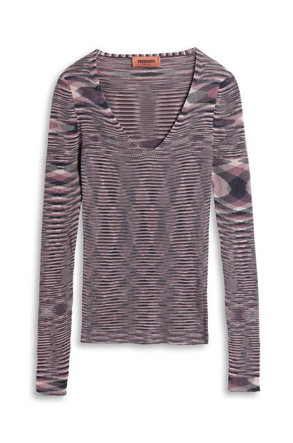MISSONI V-Neck Mauve Woman - Front
