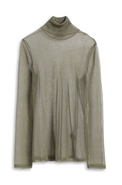 MISSONI Polo neck Military green Woman - Front