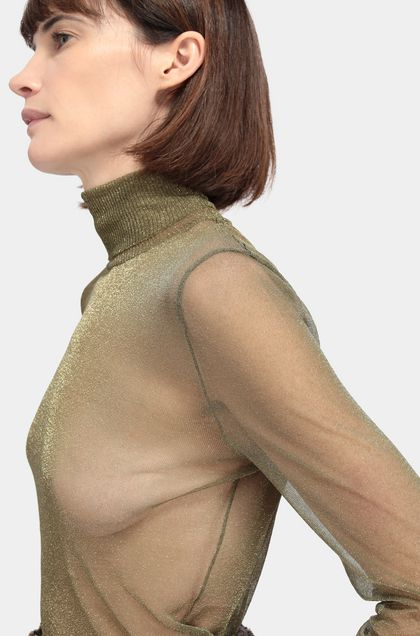 MISSONI Polo neck Military green Woman - Back