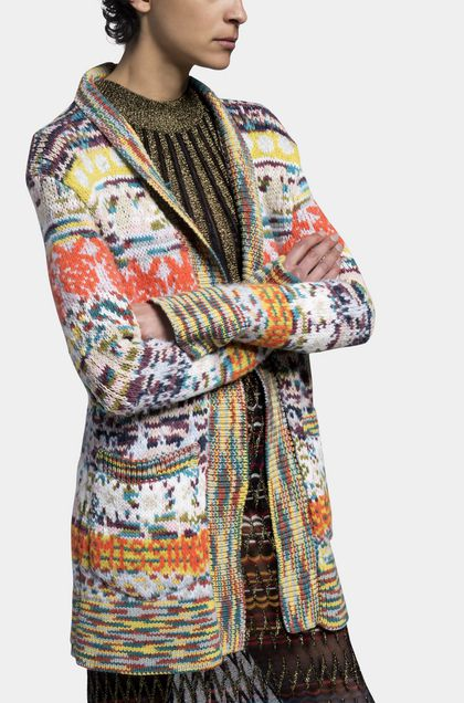 MISSONI Langer Cardigan Orange Damen - Vorderseite