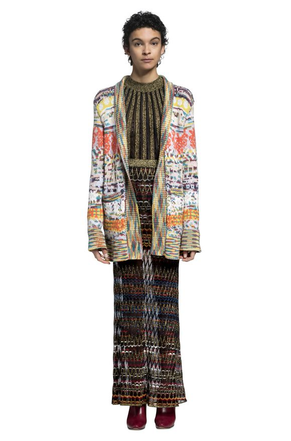 MISSONI Long cardigan Woman, Side view