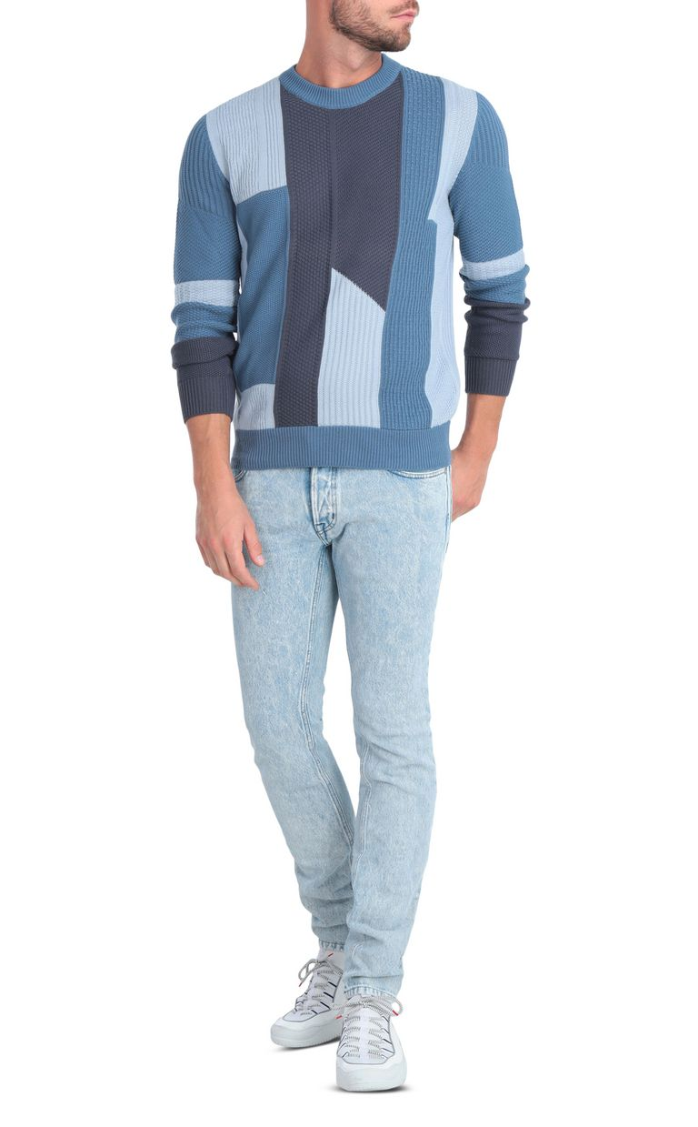 JUST CAVALLI Denim-effect pullover Crewneck sweater Man d