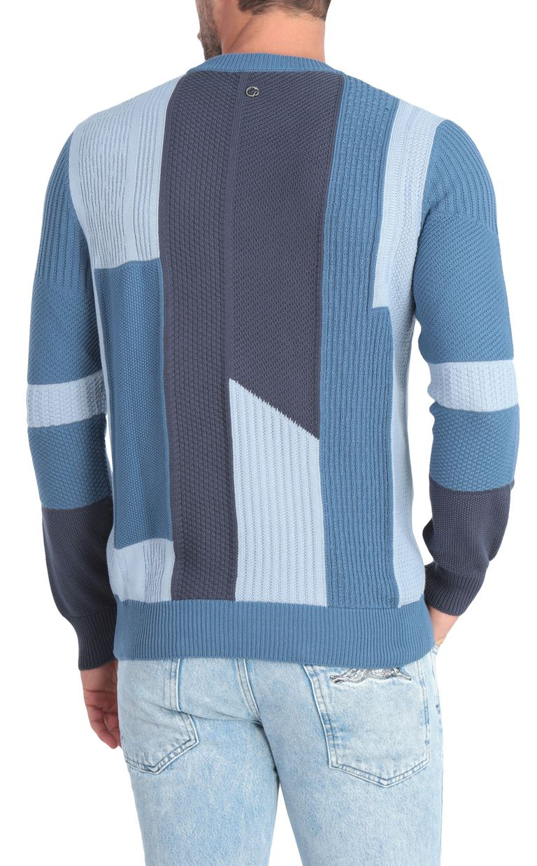 JUST CAVALLI Denim-effect pullover Crewneck sweater Man r