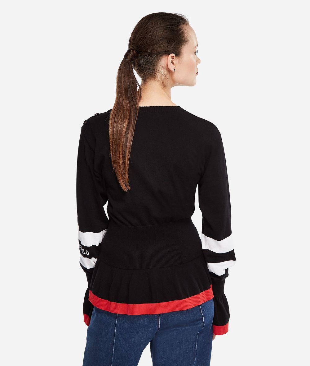 KARL LAGERFELD K/Tokyo Pullover mit Schößchen Pullover Damen d