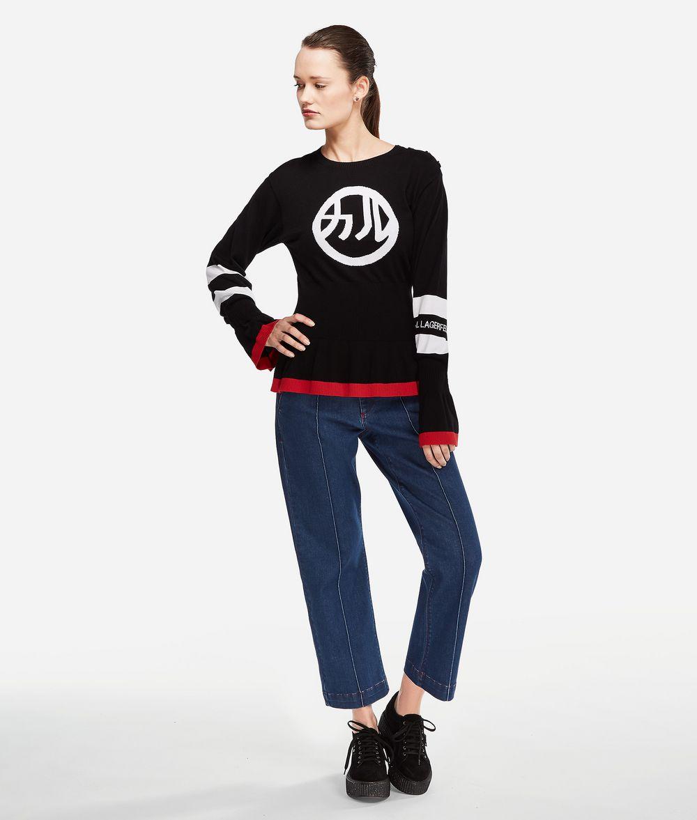 KARL LAGERFELD K/Tokyo Pullover mit Schößchen Pullover Damen f