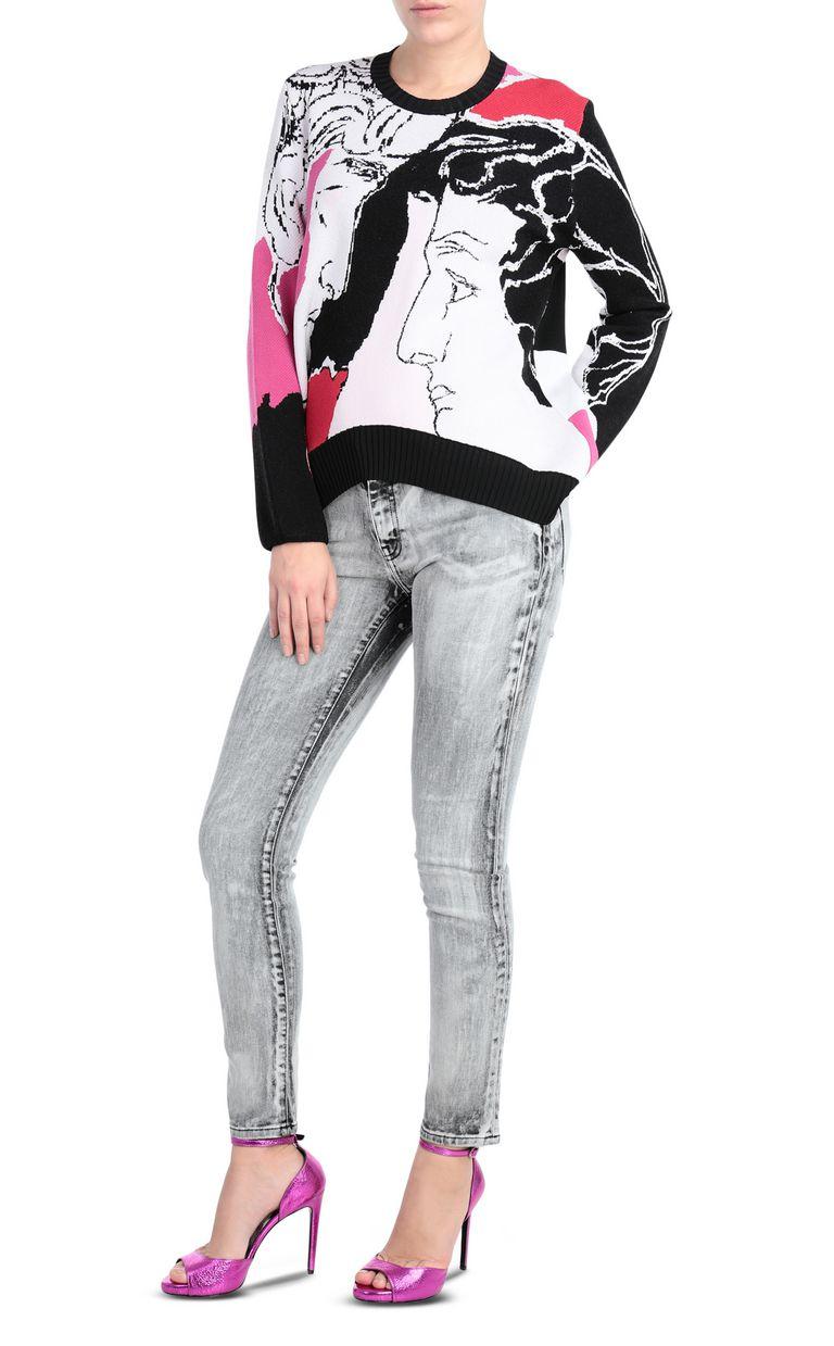 JUST CAVALLI Pullover depicting David's face Crewneck sweater Woman d