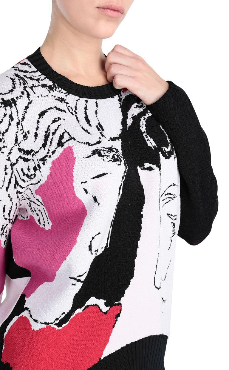 JUST CAVALLI Pullover depicting David's face Crewneck sweater Woman e