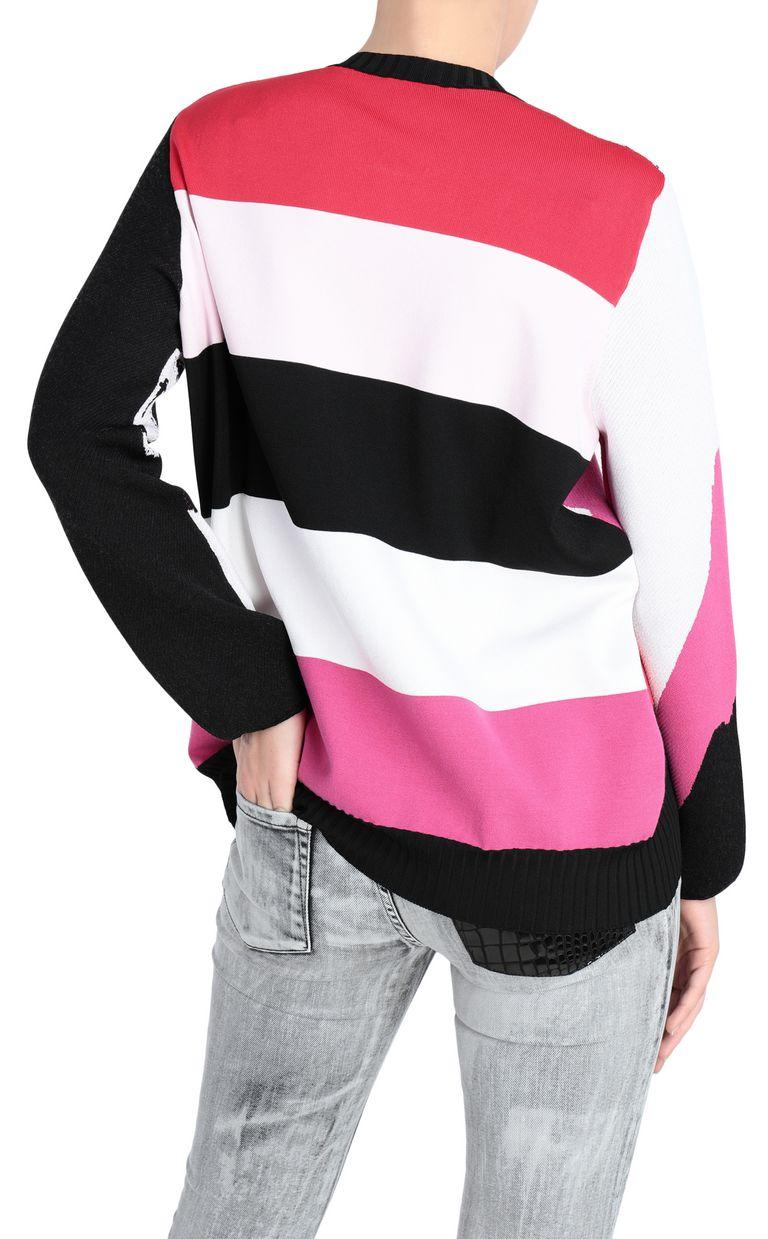 JUST CAVALLI Pullover depicting David's face Crewneck sweater Woman r