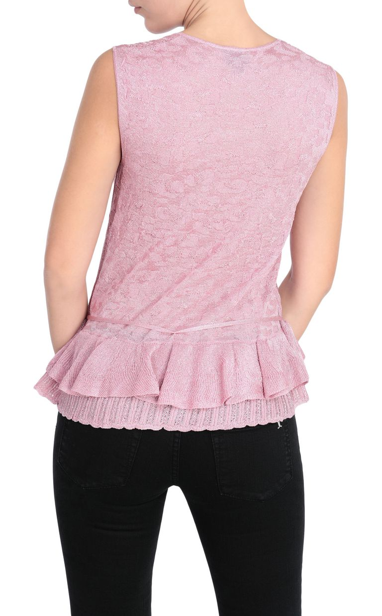 JUST CAVALLI Tank top in a lurex knit Sleeveless sweater Woman r