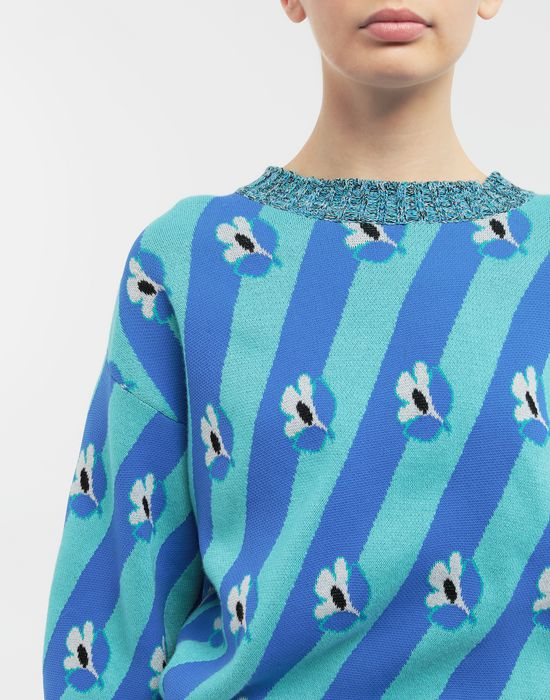 MM6 MAISON MARGIELA Floral-print jacquard pullover Long sleeve sweater [*** pickupInStoreShipping_info ***] a