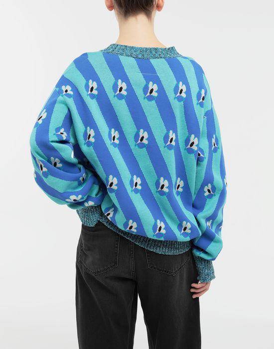 MM6 MAISON MARGIELA Floral-print jacquard pullover Long sleeve sweater [*** pickupInStoreShipping_info ***] e