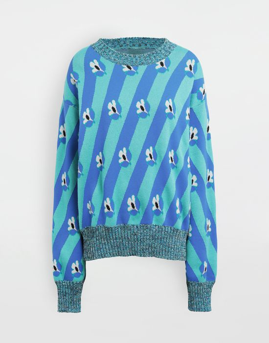 MM6 MAISON MARGIELA Floral-print jacquard pullover Long sleeve sweater [*** pickupInStoreShipping_info ***] f