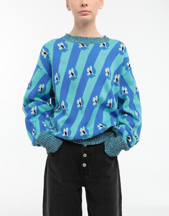 MM6 MAISON MARGIELA Floral-print jacquard pullover Long sleeve sweater [*** pickupInStoreShipping_info ***] r