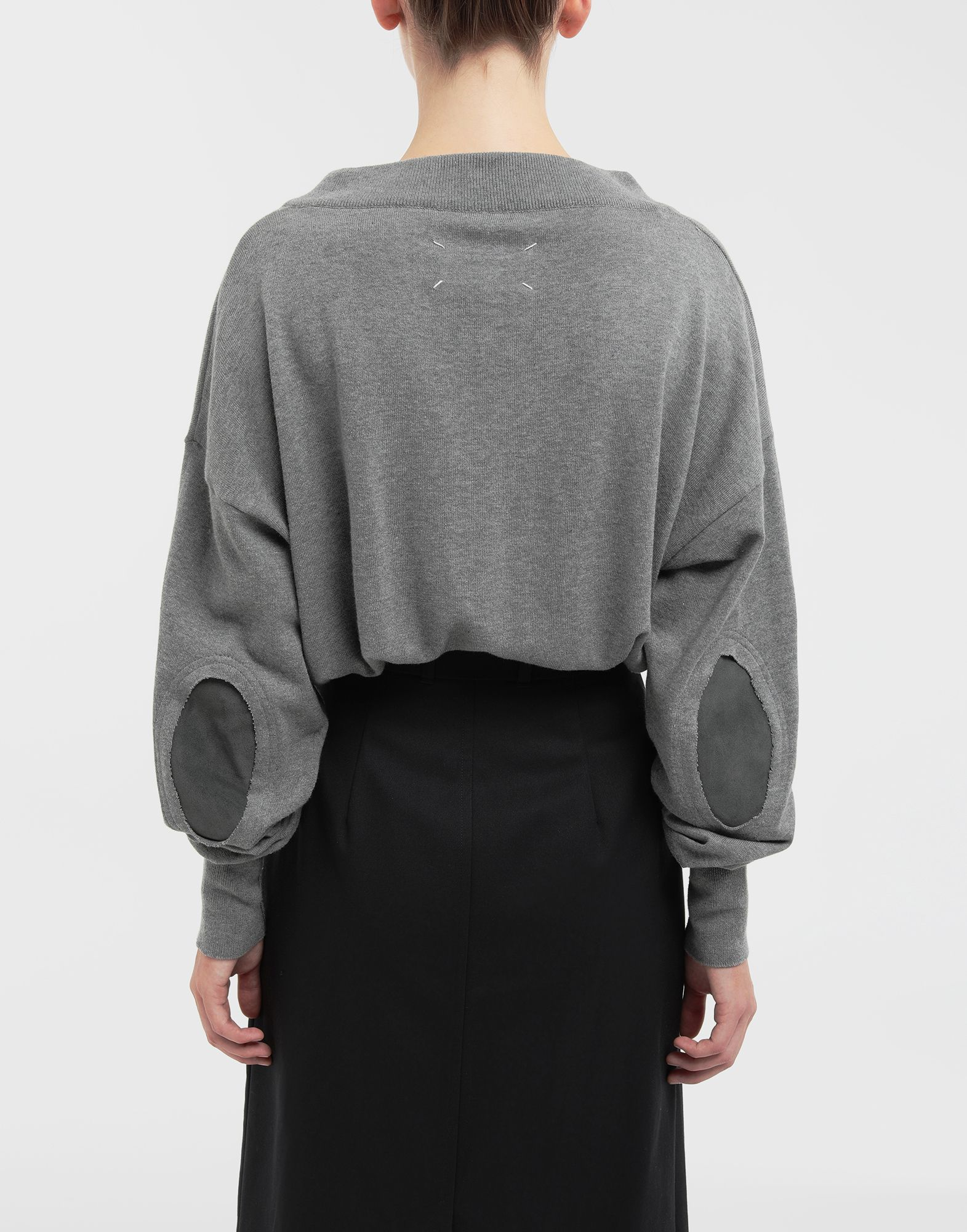 MAISON MARGIELA NewBasic jersey knit pullover V-neck Woman e