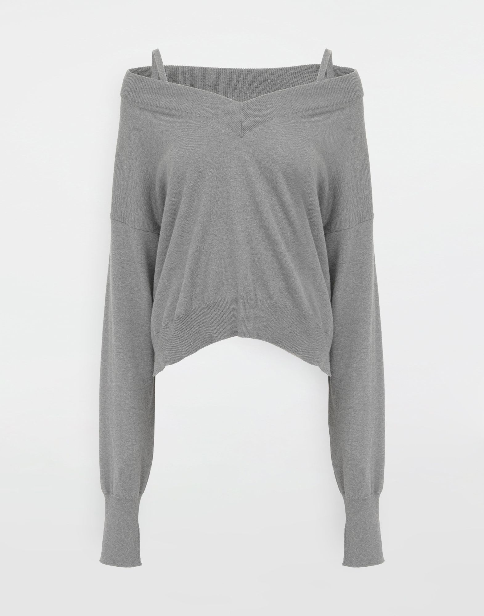 MAISON MARGIELA NewBasic jersey knit pullover V-neck Woman f