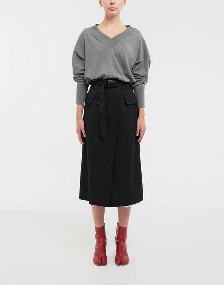 MAISON MARGIELA NewBasic jersey knit pullover V-neck Woman d