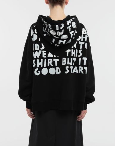KNITWEAR AIDS Charity-print jersey sweatshirt Black