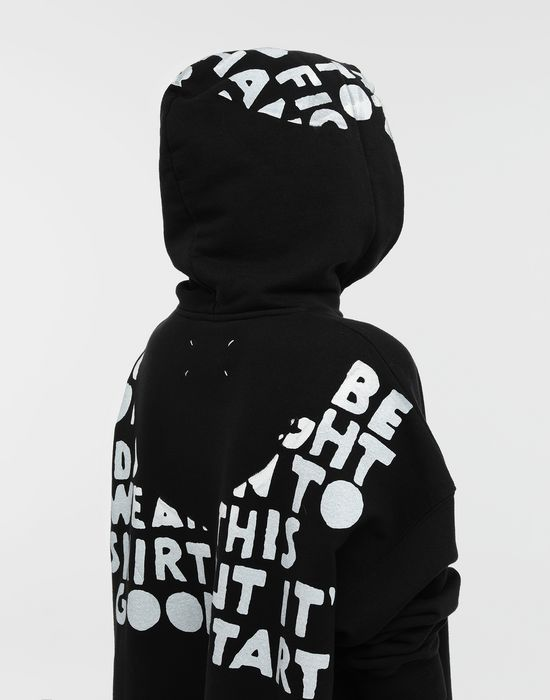 MAISON MARGIELA AIDS Charity-print jersey sweatshirt Hooded sweatshirt [*** pickupInStoreShipping_info ***] a