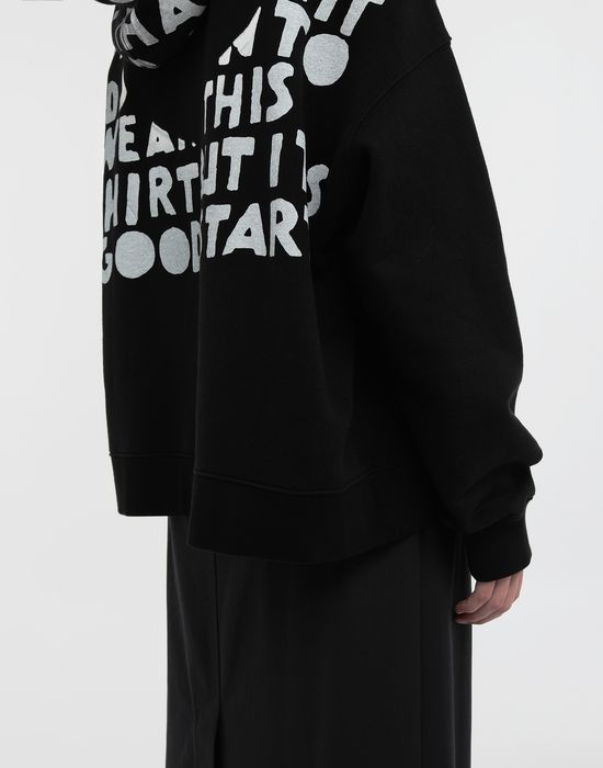 MAISON MARGIELA AIDS Charity-print jersey sweatshirt Hooded sweatshirt [*** pickupInStoreShipping_info ***] b