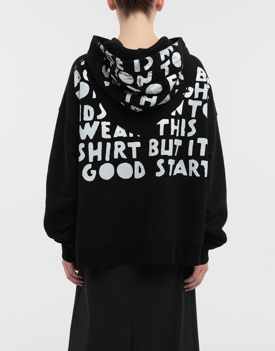 MAISON MARGIELA AIDS Charity-print jersey sweatshirt Hooded sweatshirt [*** pickupInStoreShipping_info ***] e