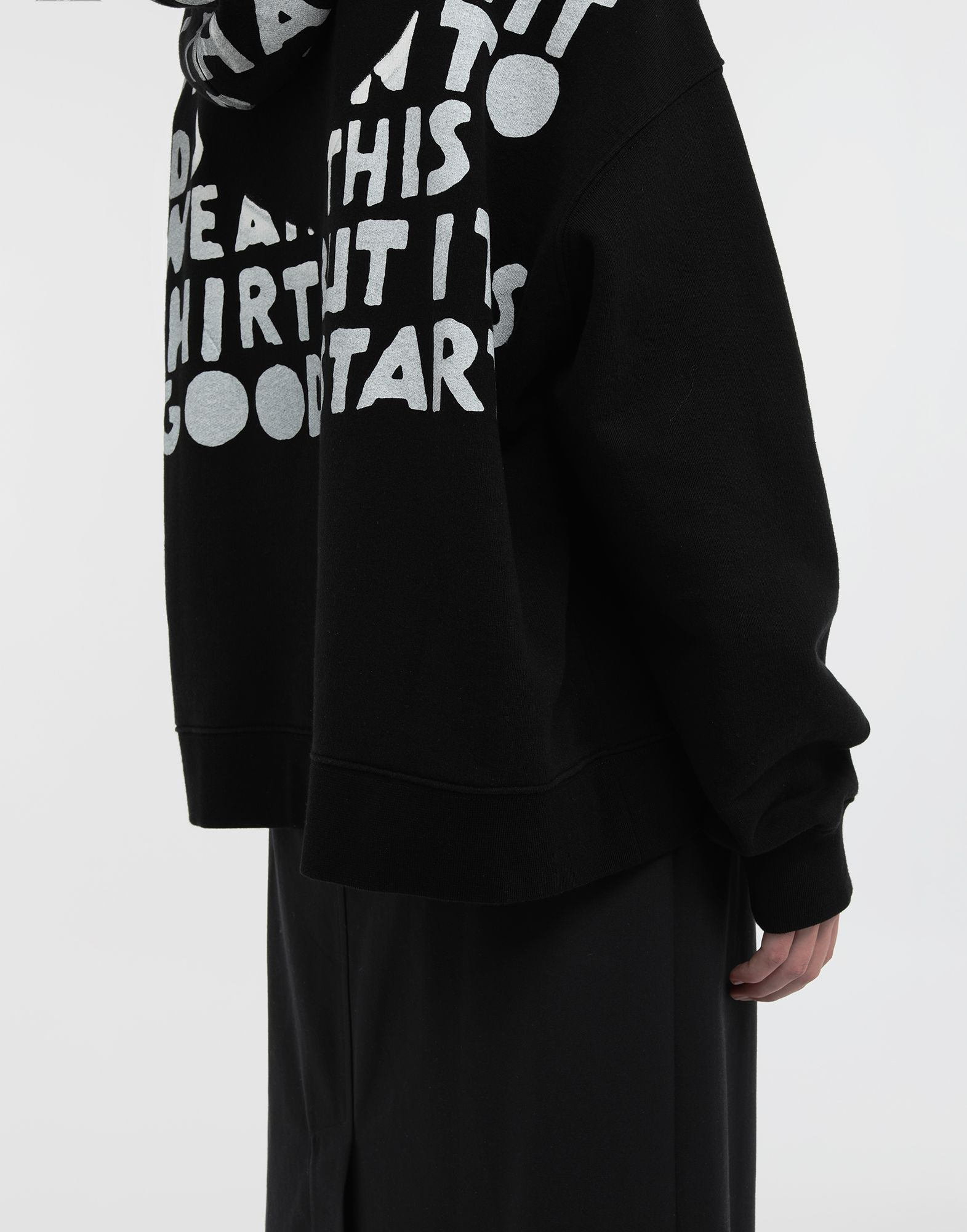 MAISON MARGIELA AIDS Charity-print jersey sweatshirt Hooded sweatshirt Woman b