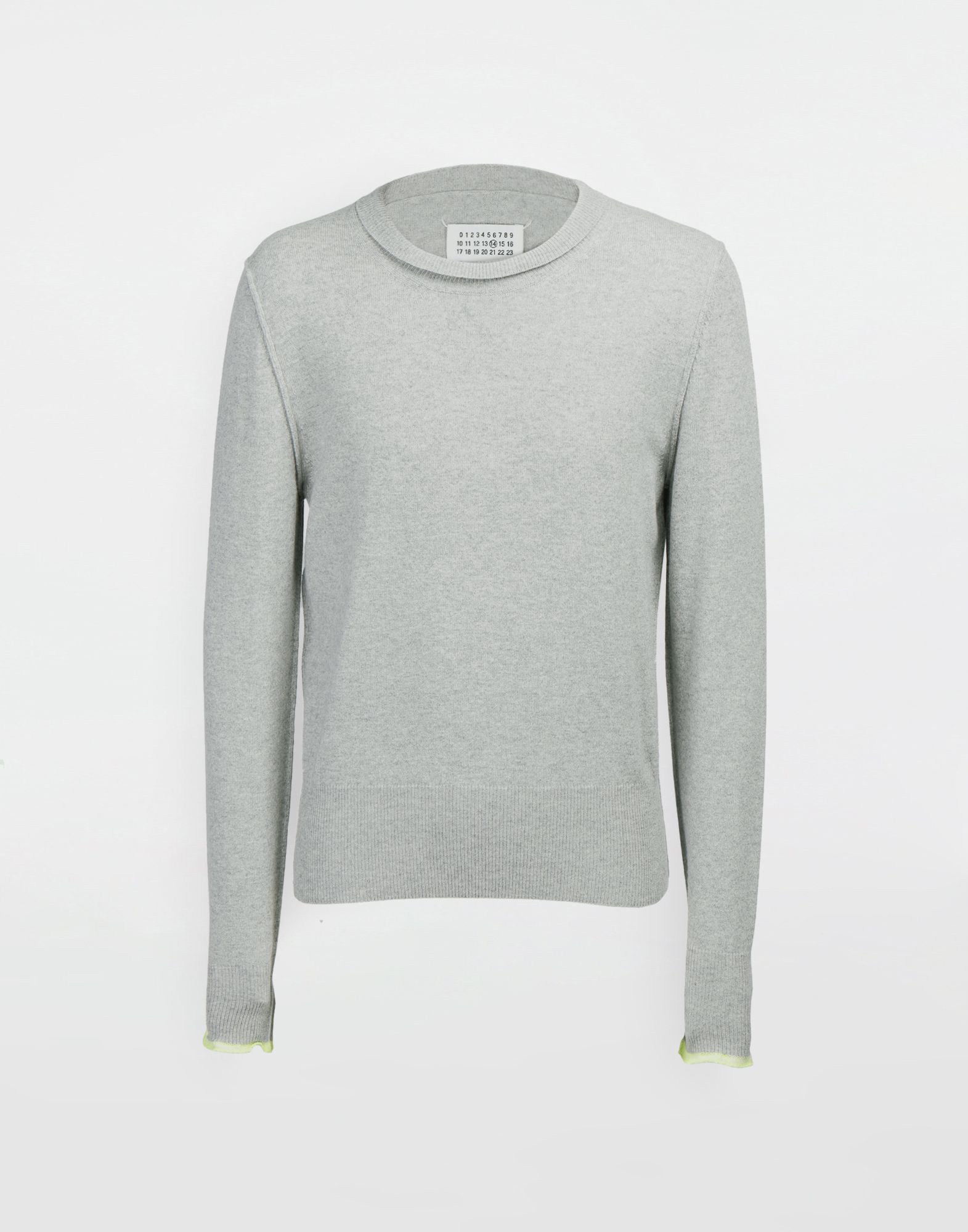 MAISON MARGIELA Cast off knit pullover Crewneck sweater Man f