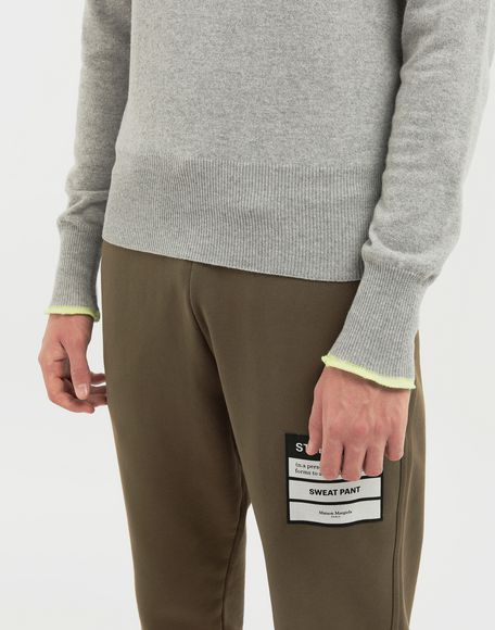 MAISON MARGIELA Cast off knit pullover Crewneck sweater Man b