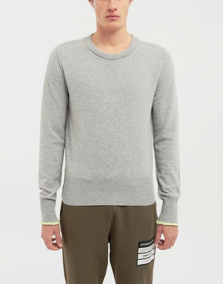 MAISON MARGIELA Cast off knit pullover Crewneck sweater Man r