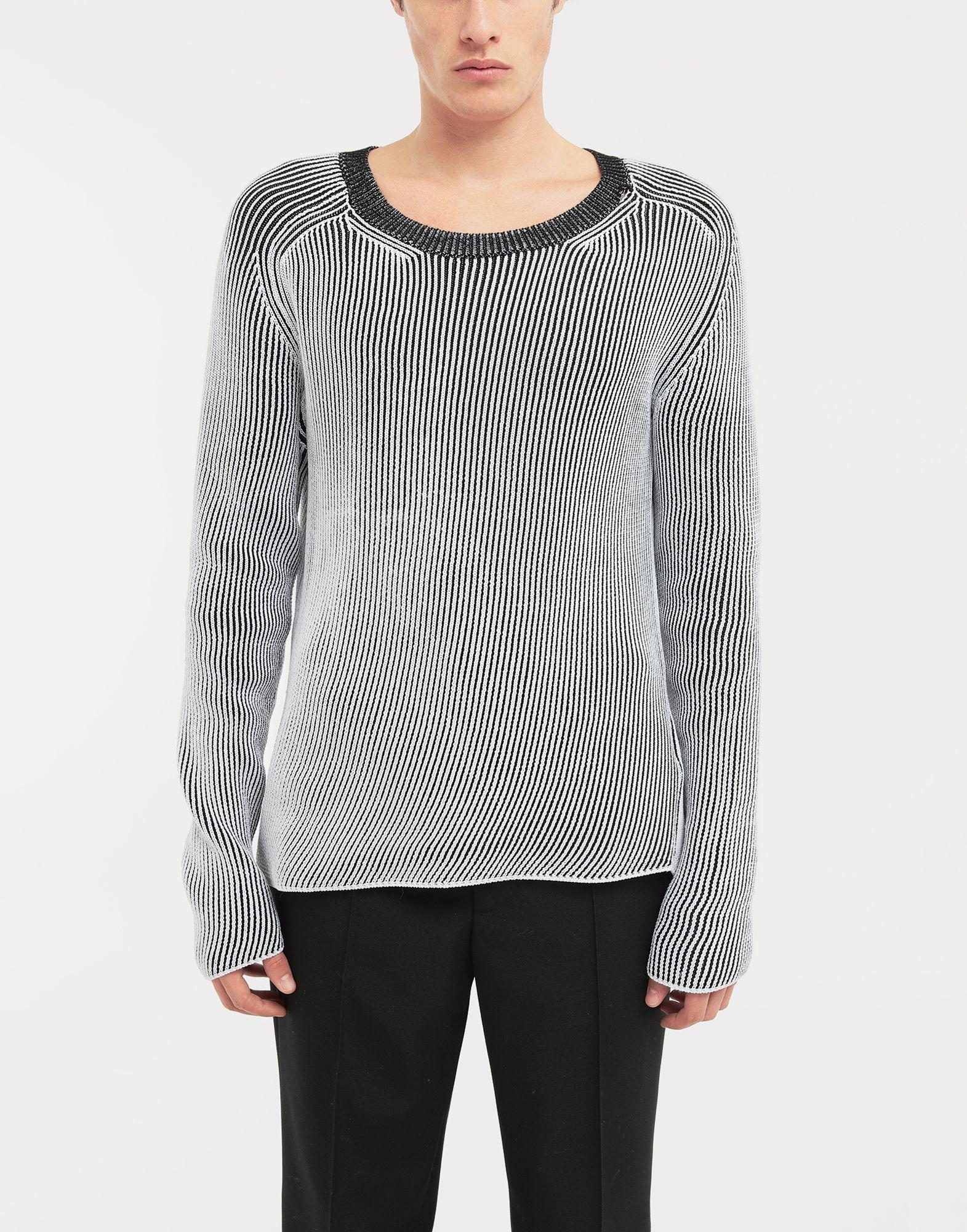 MAISON MARGIELA Cardigan knit pullover Crewneck sweater Man r