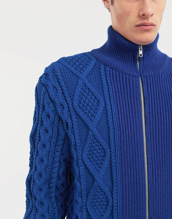 MAISON MARGIELA Spliced zip-embellished knit cardigan Cardigan [*** pickupInStoreShippingNotGuaranteed_info ***] a
