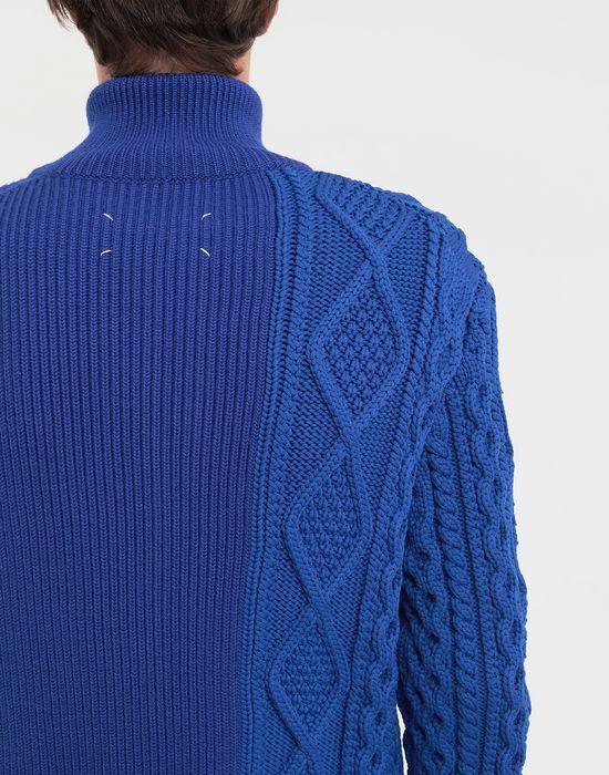 MAISON MARGIELA Spliced zip-embellished knit cardigan Cardigan [*** pickupInStoreShippingNotGuaranteed_info ***] b