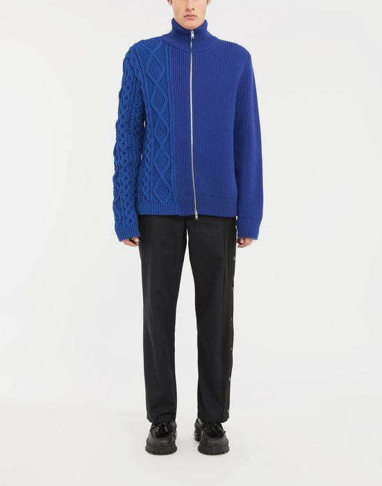 MAISON MARGIELA Spliced zip-embellished knit cardigan Cardigan [*** pickupInStoreShippingNotGuaranteed_info ***] d